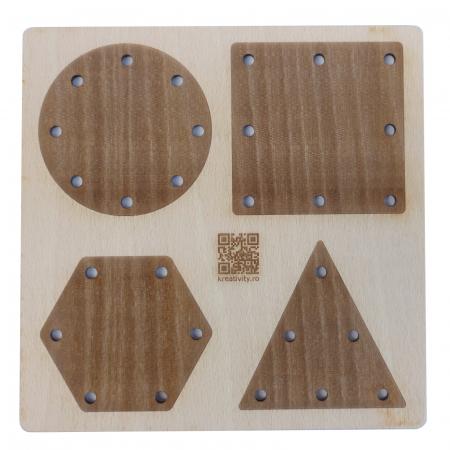 Tablă perforată pentru împletire cu șnur - forme geometrice [3]