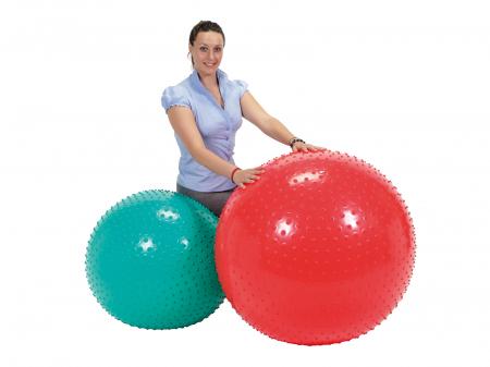 Minge fizioterapeutică Therasensory cu noduli de masaj 100-roșu [2]