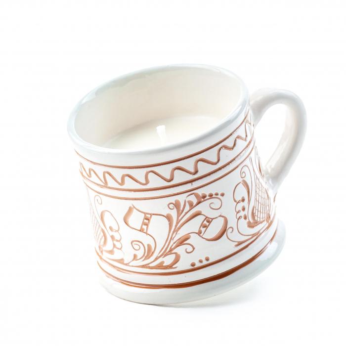 Lumanare din Ceara de Soia si Eucalipt - Ceramica Small Size 0