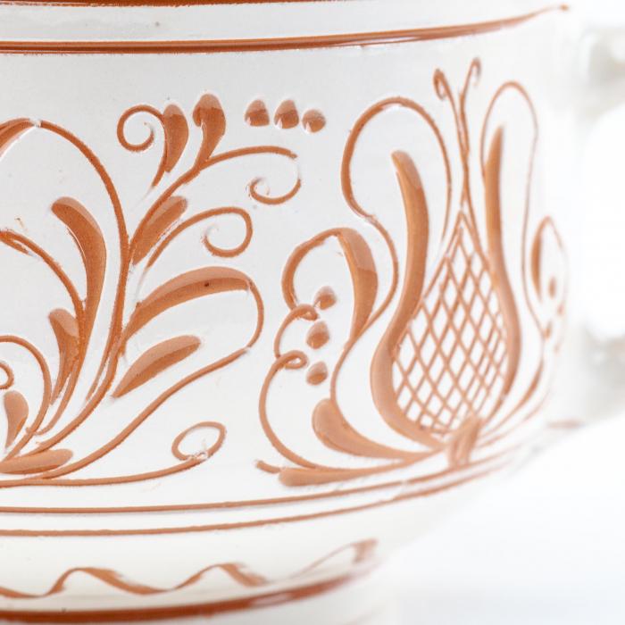 Lumanare din Ceara de Soia si Eucalipt - Ceramica King Size 1