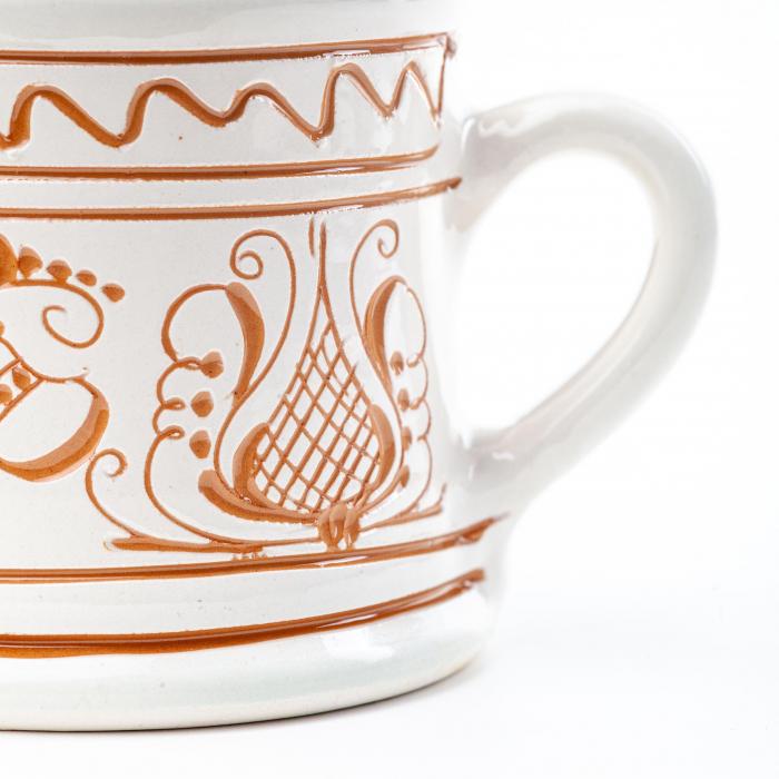 Lumanare din Ceara de Soia si Eucalipt - Ceramica Small Size 1