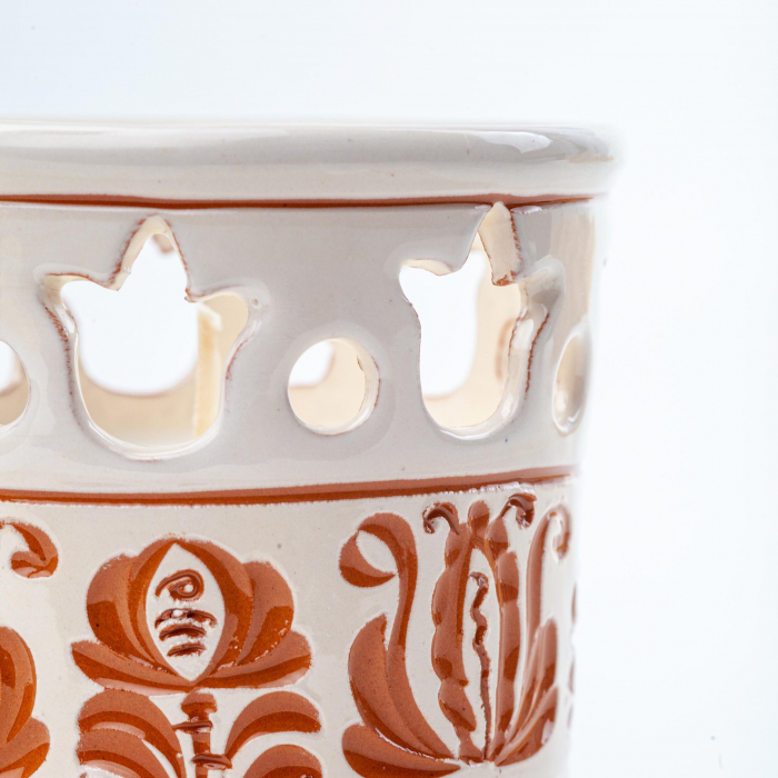 Lumanare din Ceara de Soia si Eucalipt - Felinar Ceramica 2