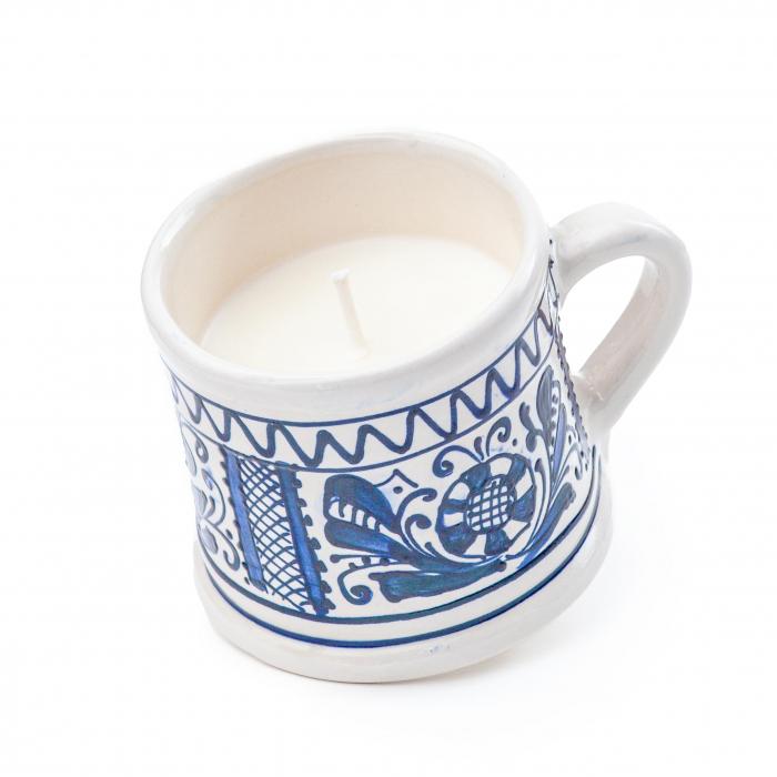 Lumanare din Ceara de Soia si Lavanda - Ceramica Small Size 0
