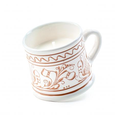 Lumanare din Ceara de Soia si Eucalipt - Ceramica Small Size0