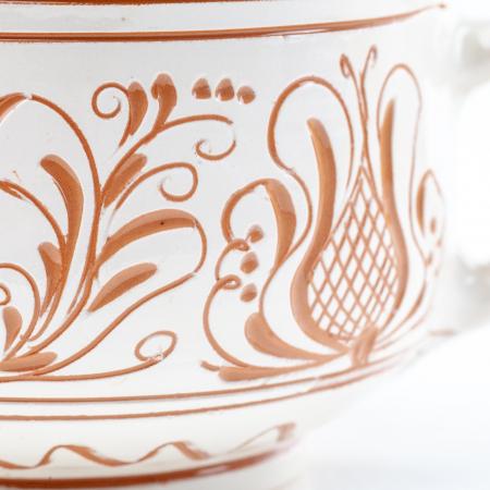Lumanare din Ceara de Soia si Eucalipt - Ceramica King Size1