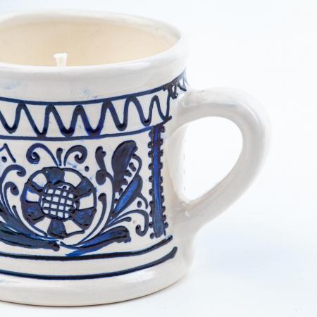 Lumanare din Ceara de Soia si Lavanda - Ceramica Small Size1