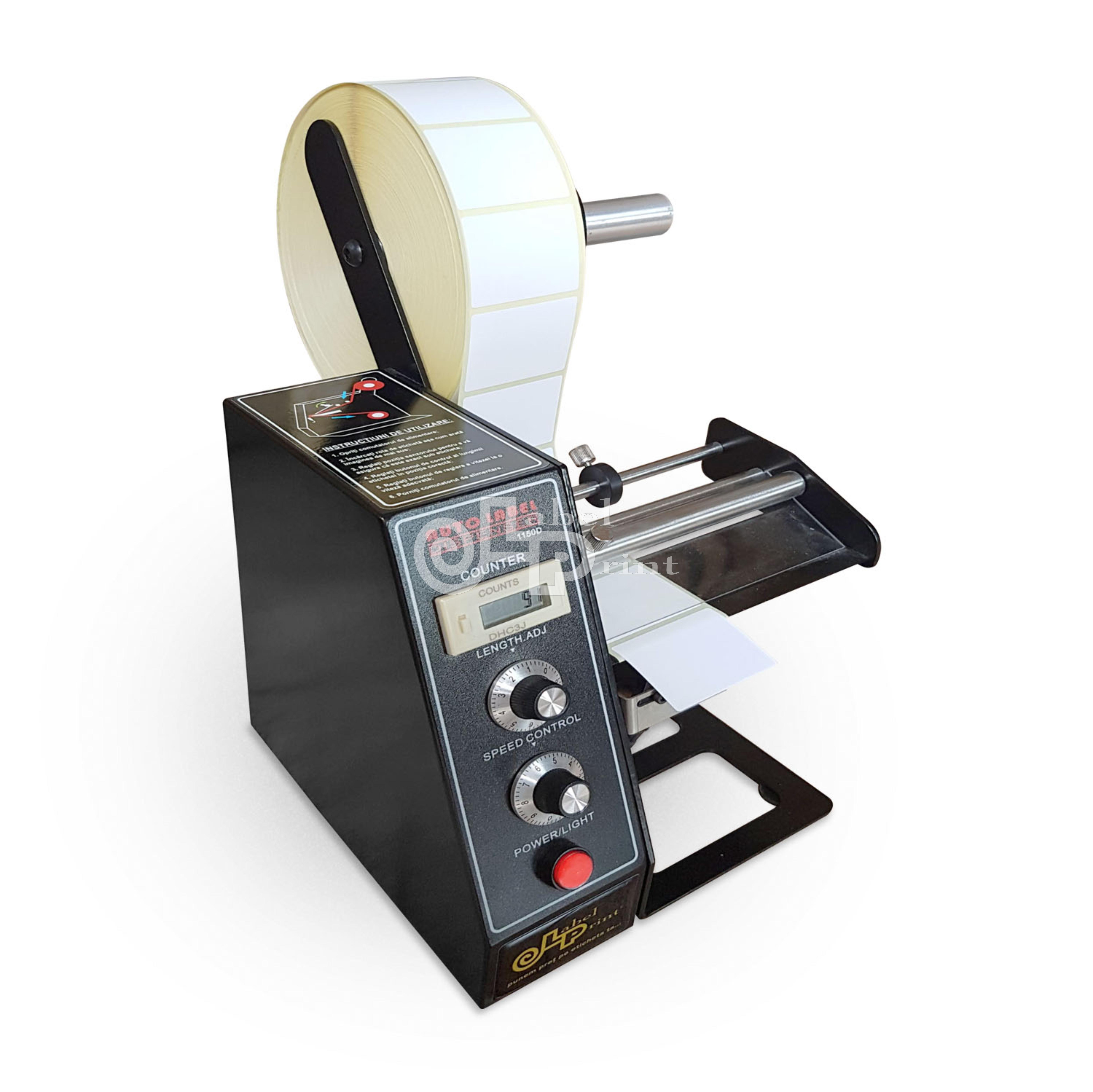 Dispenser semi-automat etichete, 220V, afisaj LED, negru 0