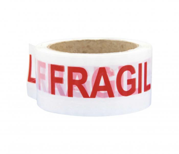"""Banda adeziva, Alba, imprimata """"FRAGIL"""", 50mm x 66M [0]"""