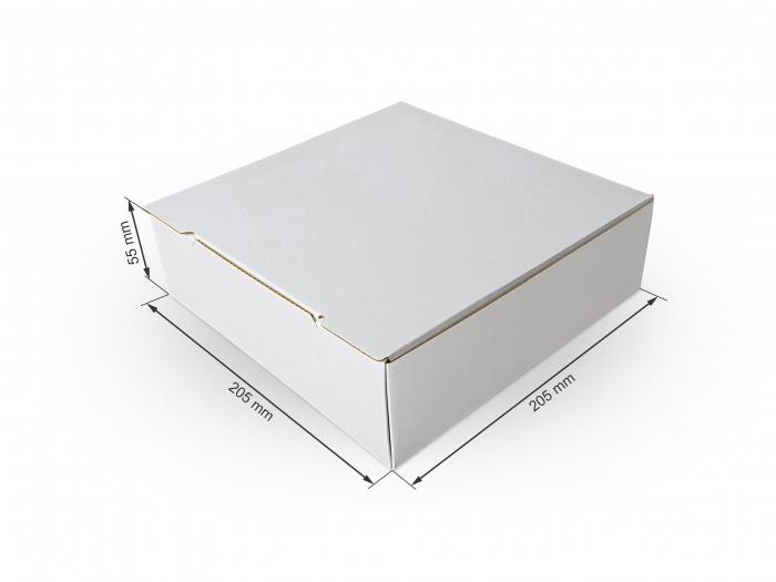 Cutie carton microondul nature, 205x205x55mm [0]