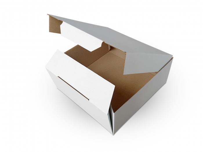 Cutie carton microondul nature, 205x205x55mm [1]