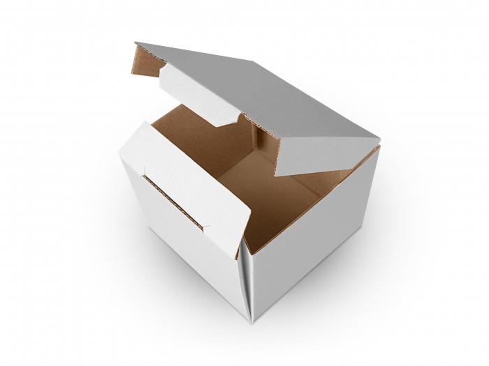 Cutie carton microondul nature, 105x105x55mm [0]