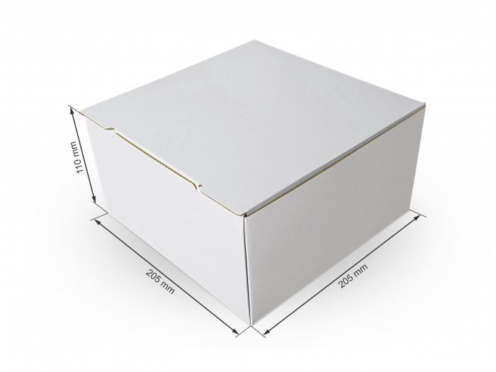 Cutie carton microondul nature, 205x205x110mm [0]