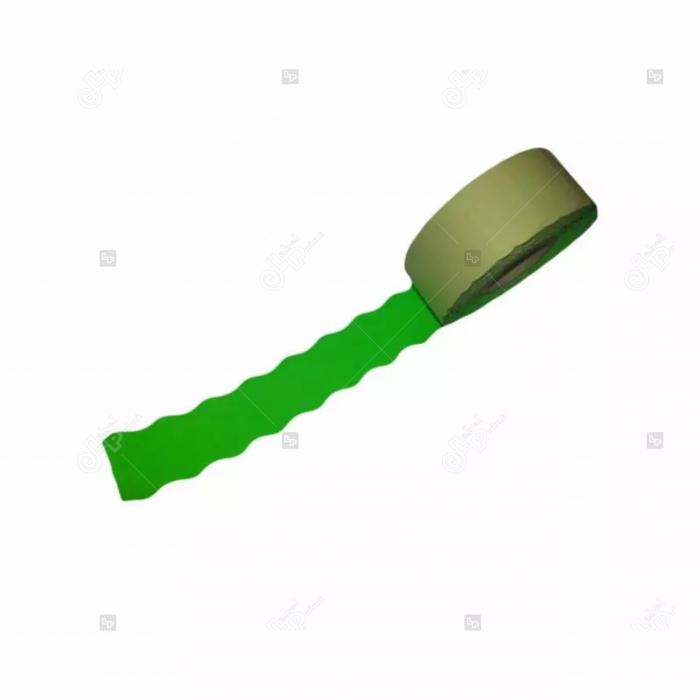 Etichete fluorescente ondulate pentru marcatoarele de pret, verzi, 26 x 16 mm, 1000 buc/rola [0]