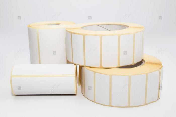 Etichete in rola, hartie semilucioasa, adeziv permanent, 58 x 43 mm, 1000 buc/rola 1
