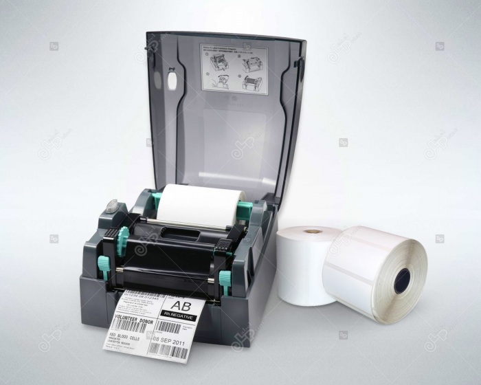 Etichete in rola, hartie semilucioasa, adeziv permanent, 60 x 60  mm, 3200 buc/rola 3