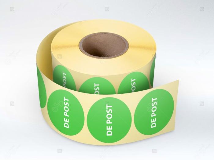 """Etichete personalizate in rola, """"Produs de post"""" [0]"""