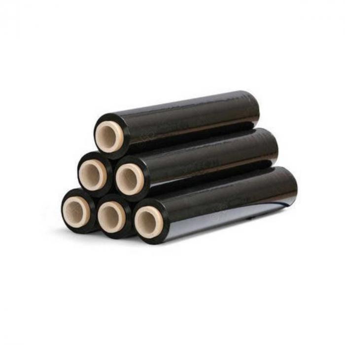 Bax x 6 role Folie stretch manuala neagra, 23 microni, greutate 1.8 kilograme net, neagra [0]