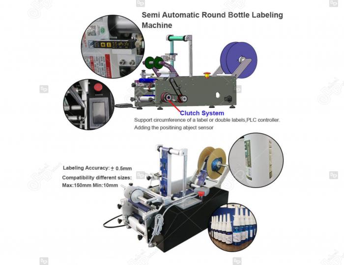 Masina de etichetat semi-automata, model standard LP-LMT-200 4
