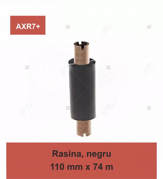 Ribon Inkanto AXR7+, rasina, negru, 110mmx74M, OUT 0