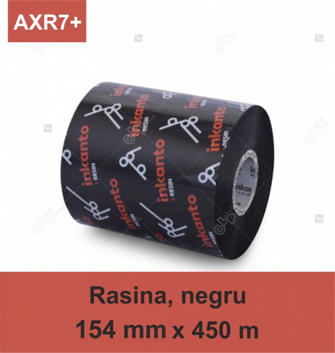 Ribon Inkanto AXR7+, rasina, negru, 154mmx450M, OUT 0