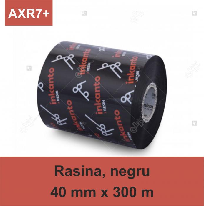 Ribon ARMOR Inkanto AXR7+, rasina (resin), negru, 40 mm x 300 M, OUT 0