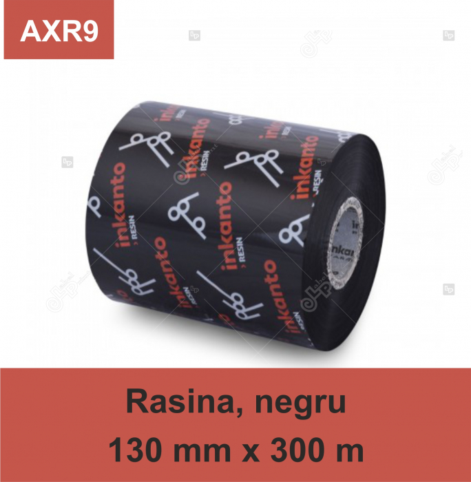 Ribon ARMOR Inkanto AXR9, rasina (resin), negru, 130 mm x 300 M, OUT 0