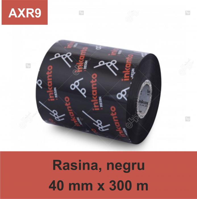 Ribon Inkanto AXR9, rasina, negru, 40mmx300M, OUT 0