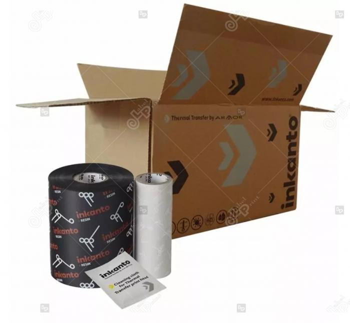 Ribon ARMOR Inkanto AXR9, rasina (resin), negru, 83 mm x 450 M, OUT 2