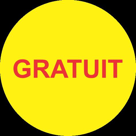 "Rola etichete autoadezive personalizate ""GRATUIT"" [1]"