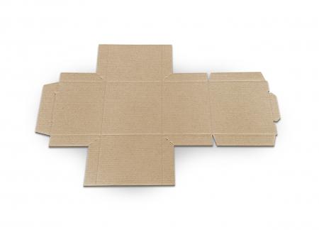Cutie carton microondul nature, 105x105x85mm [3]