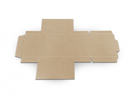 Cutie carton microondul nature, 105x105x110mm [3]
