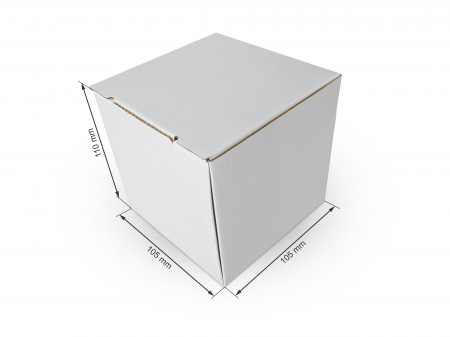 Cutie carton microondul nature, 105x105x110mm [0]