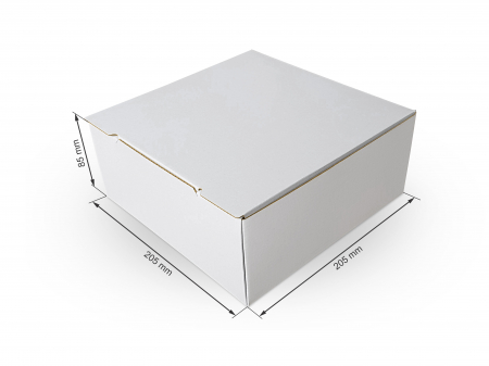 Cutie carton microondul nature, 205x205x85mm [0]