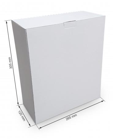 Cutie carton microondul nature, 305x265x120mm [0]