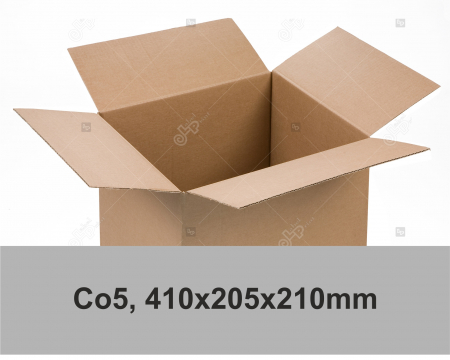 Cutie carton ondulat, natur, CO3, 410x205x210 mm0