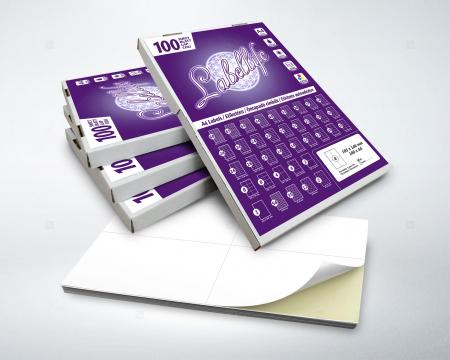 Etichete autoadezive A4 dreptunghiulare, 105 x 42.40 mm, 14 etichete / coala A4 autoadeziva, 100 coli autoadezive / top [2]