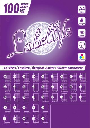 Etichete autoadezive A4 dreptunghiulare, 52.5 x 29.7 mm, 40 etichete / coală A4 autoadeziva, 100 coli autoadezive / top [5]