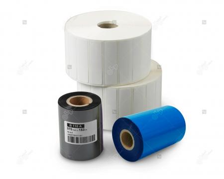 Rola etichete autoadezive semilucioase 100x40 mm, adeziv permanent, 1000 etichete/rola [2]