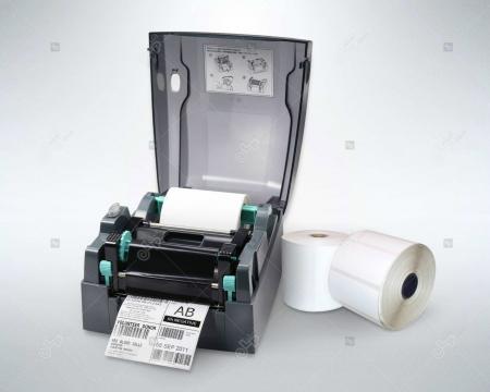 Rola etichete autoadezive semilucioase 100x40 mm, adeziv permanent, 1000 etichete/rola [3]