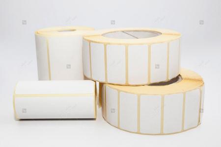 Rola etichete autoadezive semilucioase 40x20 mm, adeziv permanent, 2000 etichete/rola [0]