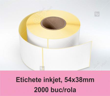 Etichete inkjet (Jetgloss) in rola, 54x38mm [0]