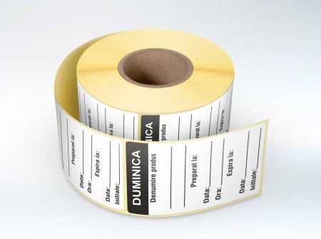 Etichete personalizate, DUMINICA - Zilele Saptamanii 30x60 mm [0]