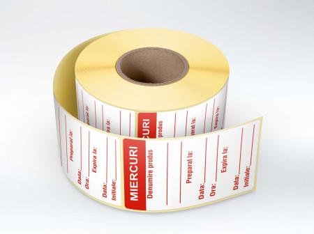 Etichete personalizate, MIERCURI - Zilele Saptamanii 30x60 mm [0]