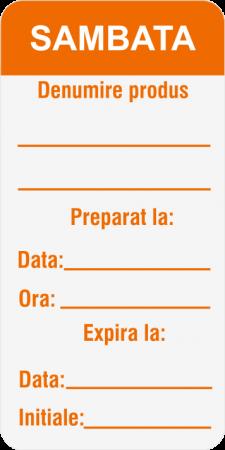 Etichete personalizate, SAMBATA - Zilele Saptamanii 30x60 mm [2]
