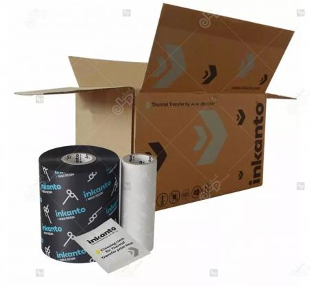 Ribon ARMOR Inkanto APR6, ceara si rasina (wax&resin), negru, 83 mm x 450 M, OUT2