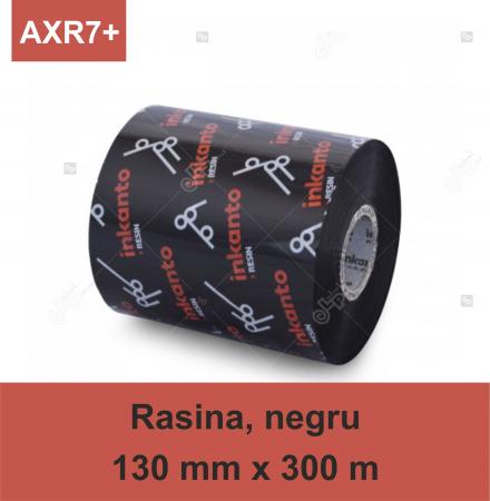 Ribon ARMOR Inkanto AXR7+, rasina (resin), negru, 130mmx300M, OUT0