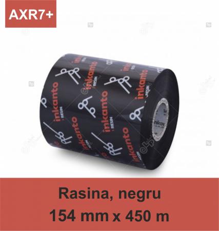 Ribon ARMOR Inkanto AXR7+, rasina (resin), negru, 154mmx450M, OUT0
