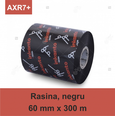 Ribon ARMOR Inkanto AXR7+, rasina (resin), negru, 60mmx300M, OUT0