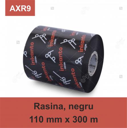 Ribon ARMOR Inkanto AXR9, rasina (resin), negru, 110 mm x 300 M, OUT0
