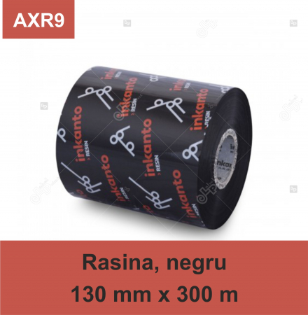 Ribon ARMOR Inkanto AXR9, rasina (resin), negru, 130 mm x 300 M, OUT0